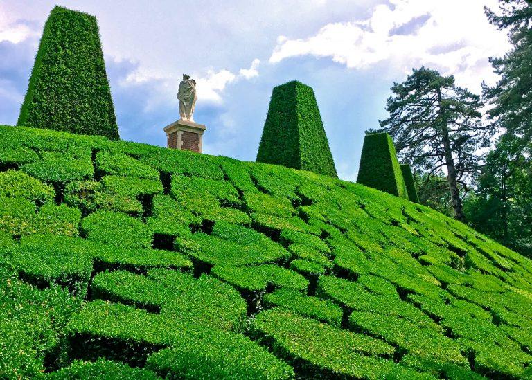 Mosaïque de buis des jardins de Breteuil