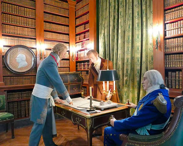 Le duc Decazes en compagnie de Louis XVIII
