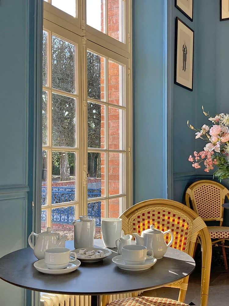 Le salon de thé du château de Breteuil pour se restaurer