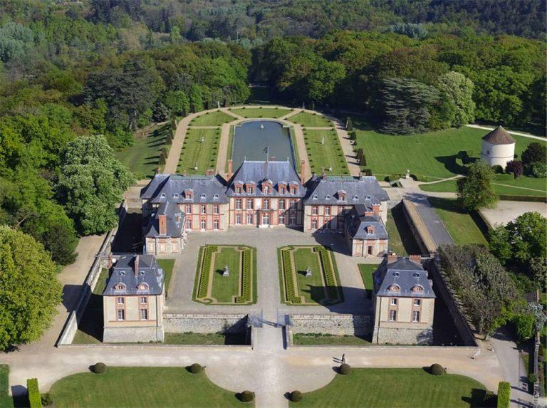 Vue aérienne du domaine de Breteuil
